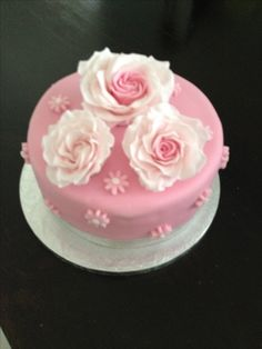 90th birthday cake Flower birthday cake WwwFacebookcom