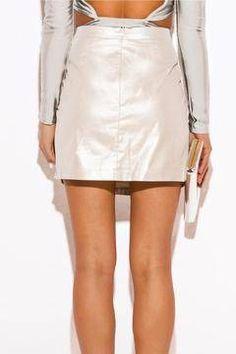 Shoptiques Product: Metallic Mini Skirt
