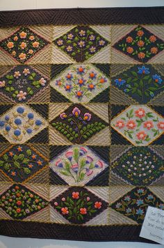 Wow! Embroidery and quilting.  This is lovely!