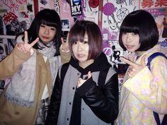 Kechon / けちょん, Chiffon / しふぉん and Ano / あの of You'll Melt More! / Yurumerumo! / ゆるめるモ!