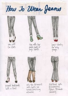 how to pair your jeans and shoes!