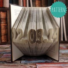 Fully Customizable Folded Book Art date Pattern & tutorial, wedding…