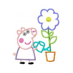 letter a crafts peppa pig george applique embroidery design by stitcheroo 46264