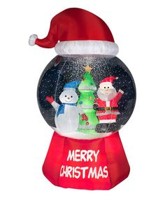 Another great find on #zulily! Santa Hat Snow Globe Inflatable Light-Up Lawn Décor #zulilyfinds