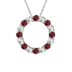 Circle of Life Pendant featuring Diamonds and Garnets