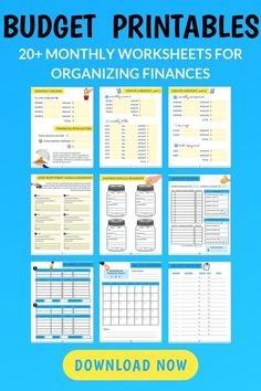 Over 40 printable budget collectors for organizing finances, paying off debt and saving money These budget printables will change your life! These are the exact budget printables we used to create a budget that's been working for years, pay off debt, a Budget Binder, Budget Spreadsheet, Monthly Budget Planner, Savings Planner, Planner Tips, Making A Budget, Create A Budget, Budget Help, Planning Budget
