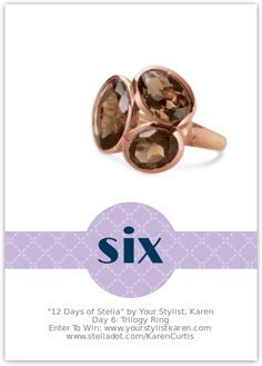 Love the Trilogy Ring from 12 Days of Stella Giveaway!!!