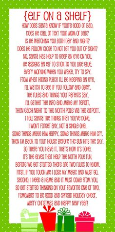 Elf on the Shelf printable poem - Lil' Luna || Elf on the Shelf Ideas for Arrival: 10 Free Printables! || Letters from Santa Blog || A collection of 10 amazing free printable letters for a spectacular Elf on the Shelf arrival!