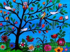 Browse through images in Pristine Cartera Turkus' Mexican Paintings collection. Mexican Folk Art Paintings by Pristine Cartera-Turkus. My inspiration in making Mexican paintings are the rich and bold. Mexican Wall Art, Mexican Paintings, Mexican Colors, Doki, School Murals, Mural Wall Art, Save The Date Postcards, Trendy Tree, Whimsical Art
