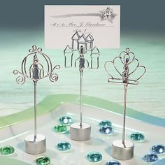 Cinderella-style Wedding Place Card Holders