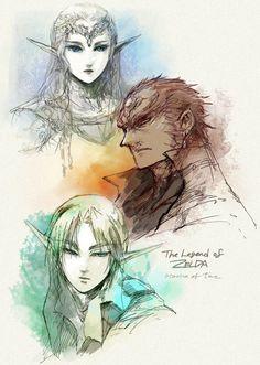 the legend of zelda, Ocarina of Time, zelda ganondorf, link
