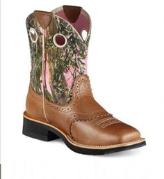 Camo topped boots :)
