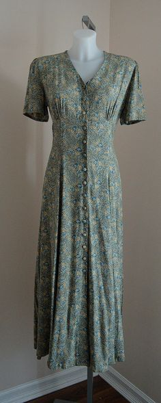Vintage Dress, Vintage Laura Ashley, Laura Ashley, 1980s Laura Ashley, 1980s Dress, Floral Dress, Casual Dress,  Country Chic Casual Dress