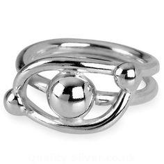 Tianguis Jackson Silver Open Bead Ring