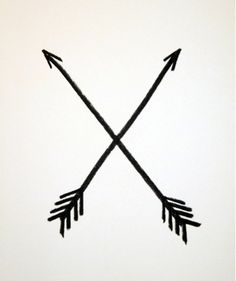 In Native American culture, the crossed arrows meant friendship. I will get a crossed arrow tattoo eventually. Friendship Symbols, Friendship Tattoos, Bad Friendship, Tumbler Png, Arrow Tattoos, Cool Tattoos, Tattos, Amazing Tattoos, Rite De Passage