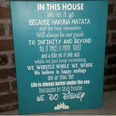 The best of Disney. In this house we do Disney. In between pixie dust and swimming add wish upon a star Disney Sign, Disney Love, Disney Art, Disney Stuff, Disney Family, Disney Theme, Disney Dream, Disney Magic, This Is Your Life