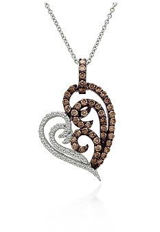 Le Vian® Chocolate Diamond® and Vanilla Diamond™ Heart Pendant in 14k Vanilla Gold™