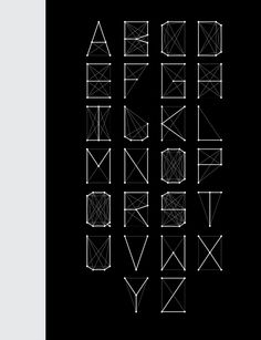 Connect The Dots - Typeface by Fiona Mares, via Behance