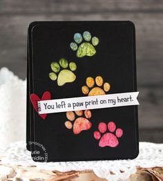 Card by Laurie Schmidlin using PS Paw Print die, Lucky Dog Two