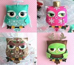 The Sunny Sunflower House: Owl ornaments