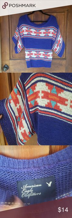 American Eagle Sweater Medium American Eagle Sweater. Has a tribal/ aztec look. American Eagle Outfitters Sweaters