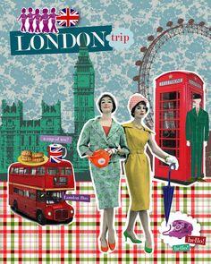 Vintage London love...   Sisters travelling again......   :)