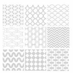 seamless geometric white pattern