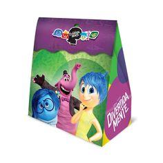 Caixa Surpresa Divertida Mente -  Coloque docinhos, balas, mini brinquedos e adesivos do tema como lembrança.