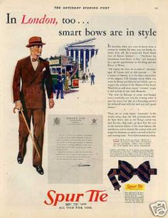 """Spur Tie Ad """"In London Too... (1930)"""