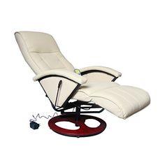 Festnight Fauteuil de Massage et de Relaxation Electrique Fauteuil  Relaxation massant (Crème) Fauteuil Electrique 8318ad078a6e