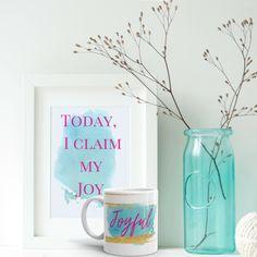 I've got Joy in my heart! Your morning inspiration on a mug. • Ceramic • Dishwasher safe • Microwave safe • White, glossy
