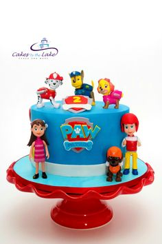 PAW PATROL CAKE One of the more popular requests at the moment is Paw Patrol. We created this butter cake finished in fondant decoration with Paw Patrol figurines for the birthday boy to keep. www.cakesbythelake.com.au www.instagram.com/cakes_by_the_lake