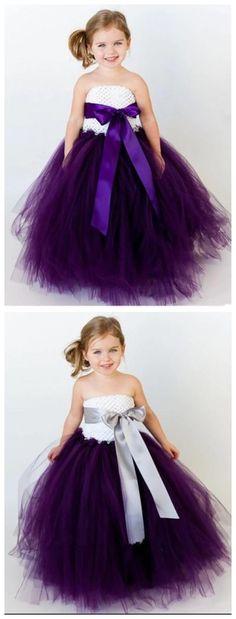 Purple Flower Girl Dresses, Baby Flower Girl Dresses, Cheap Flower Girl Dresses, Toddler Flower Girl Dresses, Tulle Flower Girl Dresses, baby flower girl dresses, #flowergirldresses #flowergirl #weddingideas