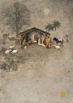 Nativity - christmas card design by Jane Crowther, Bug Art