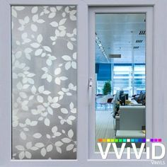 VViViD White Leaf Opaque Privacy Window Vinyl Film Decorative Decal for Bathroom, Kitchen, Home, Office DIY Easy to Install Mess-Free Adhesive Inch x Bathroom Paneling, Window Privacy, Window Films, White Leaf, Home Kitchens, Adhesive, Easy Diy, Vanity, Windows