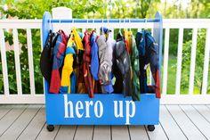 Super hero dress-up station :)