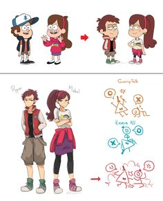 Gravity falls AU by Buryooooo