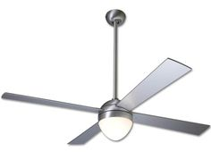 Ball Ceiling Fan W / Light by Modern Fan Co. | BAL-BA-52-AL-650-NC