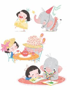 Plum Pudding Illustration Agency - Children s Illustration Agency - Illustration Agency - Illustrators - Sara Sanchez Elephant Illustration, Children's Book Illustration, Character Illustration, Digital Illustration, Illustration Children, Book Illustrations, Affinity Designer, Kid Character, Simple Character