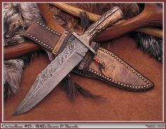 CactusRose15-Knife-Sheath by Wild Rose Trading Company.