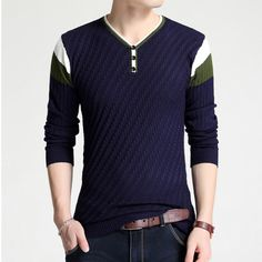 Able Afs Jeep Brand Autumn Sweater Men Striped Patchwork Color V-neck Cardigans Men M-3xl Knitted Wear Cardigan Masculino Men Sweater Men's Clothing