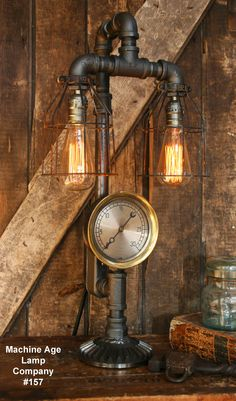 Lamp made by machine age lamps