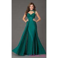 Floor Length Sherri Hill Formal Gown ($378) via Polyvore featuring dresses, gowns, formal evening gowns, plus size prom dresses, plus size gowns, formal gowns and prom gowns