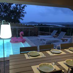Beautiful villa for rent close to Porto Vecchio for 12 people. Heated pool, A/C, stunning views sea and mountain Catamaran, Santa Giulia, Porto Vecchio, Sainte Lucie, Beautiful Villas, Heated Pool, Corsica, Outdoor Furniture, Outdoor Decor