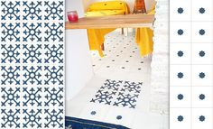 Blue and white bedroom cement tiles #mosaicdelsur #cementtiles