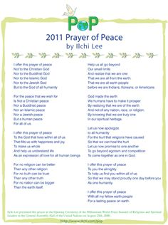 Prayers of Peace « Ilchi Lee – Brain Education for Peace New Earth, Brain, Prayers, Wisdom, Peace, God, Education, Quotes, The Brain