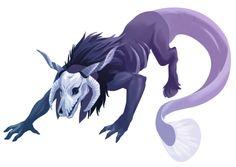 Elias Ainsworth (Animal Form) - The Ancient Magus Bride Anime Fantasy, Fantasy Girl, Fantasy Creatures, Mythical Creatures, Elias Ainsworth, The Ancient Magus Bride, Creature Drawings, Creatures Of The Night, Horror Art