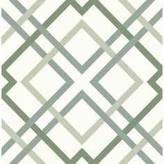 A With a variety of hues of green, this intricate trellis design has a fresh and welcoming feel. Its crisp pattern is perfect for incorporating an modern organic flair to rooms. Saltire Emile is an unpasted, non-woven wallpaper.