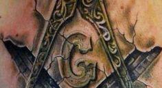un tatouage facebook maçonique