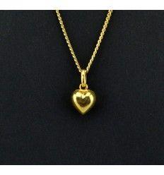 """Super sødt lille hjerte """"guld"""" vedhæng - 919319"""
